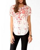 Watercolor Floral Top// Pretty Flowers!!!!