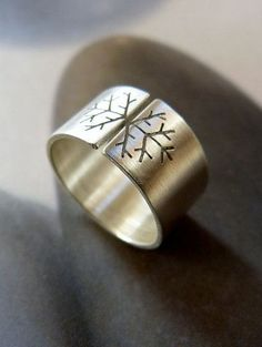 Snowflake ring Sterling silver ring