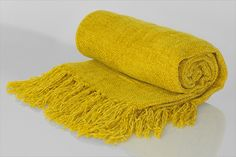 Chenille Throw with frill yellow No Frills, Color Combinations, Colours, Texture, Yellow, Color Combos, Surface Finish, Colour Combinations, Patterns