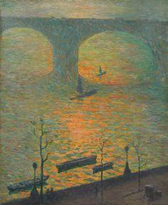 Emile Claus (Belgian, 1849-1924), Waterloo (London Bridge), 1918. Oil on canvas, 61 x 50.2cm.