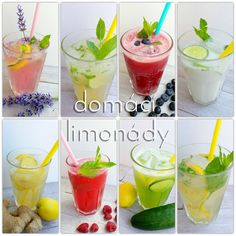 Domácí limonády Mojito, Smoothies, Detox, Picnic, Food And Drink, Pudding, Yummy Food, Homemade, Vegan