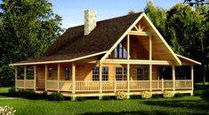 The Carson is one of the many log home plans & log cabin plans from Southland Log Homes, nationwide provider of log cabin kits and log cabin homes. Small Log Home Plans, Small Log Homes, Small Log Cabin, Log Home Floor Plans, Tiny Homes, Small Cabins, Cozy Cabin, Log Cabin House Plans, Log Cabin Kits