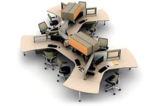 Office Space Planning The Office Design is a crucial part of the search for the appropriate size office space. Also each building has different types of office space configuration which can add up to. Office Plan, Office Setup, Cool Office, Office Workspace, Tiny Office, Office Cubicle, Front Office, Stylish Office, Corporate Office Design
