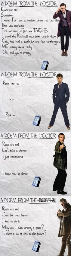 The Doctor's Attempts at Poetry Are Predictably Idiosyncratic #dw #doctorwho #geek