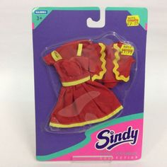 Hasbro-1994-Sindy-Doll-Outfit-25038-Skyline-Collection-Red-Dress-Sealed