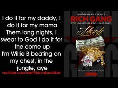 Rich Gang - Lifestyle ft. Young Thug, Rich Homie Quan (Lyrics) - YouTube