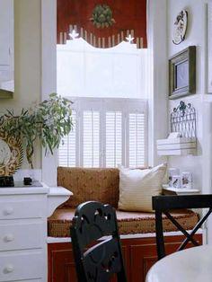 Cottage Kitchen Window Seat