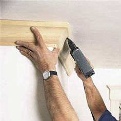 Install Crown Molding - Modern crown molding can be traced to the late Renaissance, when designers adapted elements of Greek and Roman architecture to ornamental plaster and wood cornices used to disguise and beautify the juncture of ceiling and wall. For full step-by-step instructions, shopping list, and tools list, see How to Put in Crown Molding.