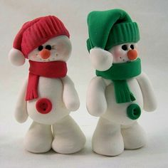 snowmen air dry clay by Bongo