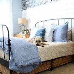 Makeover Archives » The Tattered Pew Master Bedroom Makeover, Consignment Shops, Coastal Cottage, Beach Cottages, Beach House, Pillows, Home, Beach Homes, Ad Home