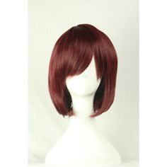 Brown Inclined Bang Harajuku Bob Short Straight Cosplay Wig ($21) ❤ liked on Polyvore featuring beauty products, haircare, hair styling tools and brown