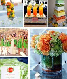 green and orange wedding details burlington vermont wedding