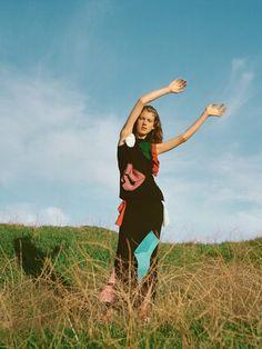 Ally Ertel wears Loewe by Zoe Ghertner for Vogue UK, April 2015.