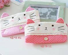 Wholesale Phone Pouch - Buy Minimum Order 15$; Kawaii Kitty Plush Pen Pencil BAG Pouch Case; Pendant Coin Purse & Wallet Case Ho, $6.58 | DHgate