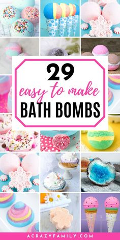 29 Easy To Make Bath Bombs Here are some of the best DIY bath bomb recipes and ideas for homemade bath bombs including fizzy bath bombs, unique bath bombs and special bath bombs for the holidays. Perfect for gifts and also for a little pampering at home. Best Bath Bombs, Fizzy Bath Bombs, Homemade Bath Bombs, Dyi Bath Bombs, Shower Bombs, Diy Spa, Homemade Gifts, Diy Gifts, Diy Presents
