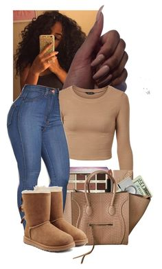 """Untitled #50"" by zariaaxo ❤ liked on Polyvore featuring tarte, NARS Cosmetics, Balenciaga, American Coin Treasures and UGG Australia"