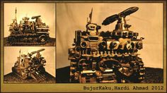 """""""BuKa"""" Media : Fully 100% Trash Dimetion :30 cm X 20 cm X 21 cm"""