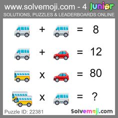 Solvemoji - Free teaching resources - Emoji math puzzle, great as a primary math starter, or to give your brain an emoji game workout. Emoji Games, Math Games, Maths Starters, Math Talk, New Puzzle, Primary Maths, Free Teaching Resources, Maths Puzzles, Halloween Themes