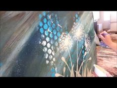 How to paint dandelions blowing in the wind - FAST and EASY