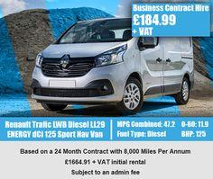 Renault Trafic LWB Diesel LL29 ENERGY dCi 125 Sport Nav Van