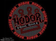 Hodor T-Shirt Designed by Mighty Rain    Source: http://teecraze.com/hodor-t-shirt/