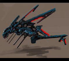 Nymph gunship by Zhangx on deviantART