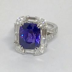 Love the violetish hue in tanzanites. Here is a gorgeous one from Canary Diamond. Gothic Wedding Rings, Gothic Engagement Ring, Diamond Engagement Rings, Star Jewelry, Jewelry Bracelets, Fine Jewelry, Tanzanite Jewelry, Gemstone Jewelry, Diamond Bracelets
