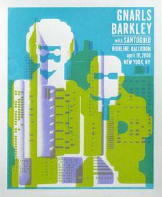 Andrew Vastagh, poster for Gnarls Barkley #poster #graphicDesign #gnarlsBarkley