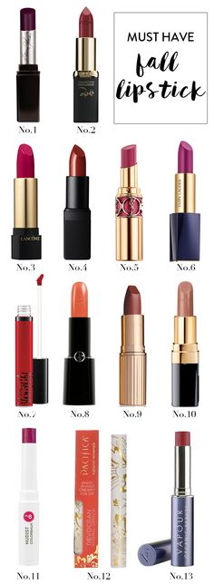 Must have fall lipsticks | @ChrminglyStyled