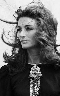 """Anouk Aimée on the set of """"Justine"""" by George Cukor, Tunisia, 1969."""