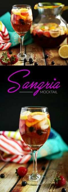 This delicious, refreshing, and easy non-alcoholic sangria mocktail will be your new favorite drink for any time of day, baby showers, pregnancy, kids parties, and more. #nonalcoholicsangria #virginsangria #sangriamocktail #mocktails #mocktailrecipes #theantijunecleaver @reganajc