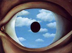 the false mirror #magritte #surrealism #eyes #sky
