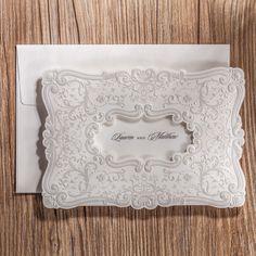 10x Elegant Wedding Invitation Card w//Envelop-Blue; Bulk Disc; Free Black Print!