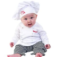 Amazon.com: Baby Toddler Fancy Dress Chef Cook Outfit Halloween Costume Birthday…