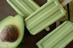 Cince de Mayo Treat: Avocado Paletas | Creamy, bright, and unexpected, these ice pops will surprise and delight your party guests.  As an added bonus, a shot of tequila is added to give these pops a boozy kick.- Foodista.com