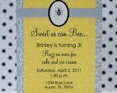 Sweet bee invitation