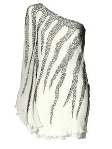 zebra one sleeve dress - bachelorette party?