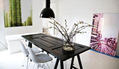 Indretning, interiør, Boligcious, design, boligindretning, indretning, interior, møbler, furnitures, Malene Møller Hansen, Indretningsdesigner, brugskunst, bordbukke, bordben, skrivebord, vintage, spisebord, skrivebord