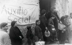 colas del hambre en la guerra civil España