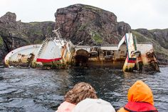 Ship wreck off the Isle of Rum, Scotland by Rosarian49