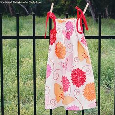 Simple Shirred Sundress Tutorial | Scattered Thoughts of a Crafty Mom