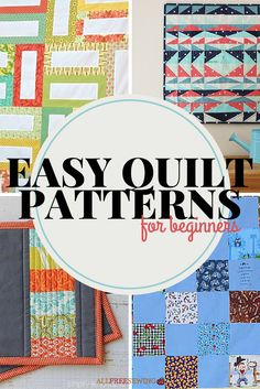 40 Easy Quilt Patterns for Beginners #LetsQuilt #beginners