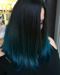 Hair Colour That Wont Break The Office Dress Code Blue Hair Break code Colour Dress hair Office wont Hair Dye Colors, Ombre Hair Color, Blue Hair Colour, Blue Hair Dyes, Turquoise Hair Ombre, Hair Color For Black Hair, Cool Hair Color, Black Hair Blue Tips, How To Colour Hair