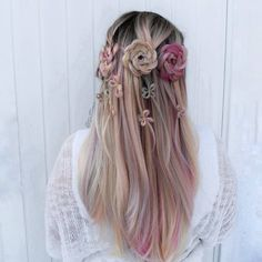 2018 New Unicorn Synthetic Lace Front Wig - All Synthetic Wigs Synthetic Lace Front Wigs, Synthetic Wigs, Small Flowers, Flowers In Hair, Pretty Hairstyles, Braided Hairstyles, Braids Step By Step, Flower Fashion, Amazing Flowers
