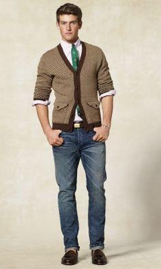 herringbone cardigan
