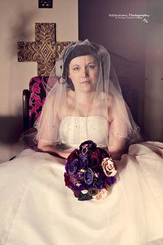 www.facebook.com/PaperFlowersBySimona Paper Flowers, Real Weddings, Bouquets, Bride, Facebook, Wedding Dresses, Fashion, Wedding Bride, Bride Dresses