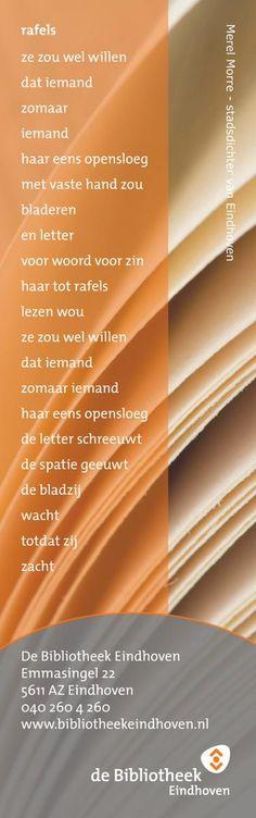 Zolang de voorraad strekt krijg je bij het lenen van een poëzie-bundel dit prachtige gedicht van Merel Morre cadeau op een boekenlegger.
