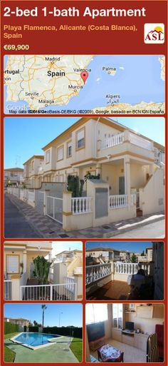 Apartment for Sale in Playa Flamenca, Alicante (Costa Blanca), Spain with 2 bedrooms, 1 bathroom - A Spanish Life Apartments For Sale, Murcia, Alicante, Valencia, Bedroom Corner, Spanish, Mansions, House Styles, Palmas