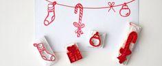 DIY: Weihnachtliche Stempel