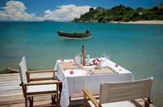 Spoil yourself with a luxury-filled getaway on un ininhabited island in Lake Malawi, East Africa. Camping Glamping, Outdoor Furniture Sets, Outdoor Decor, White Sand Beach, East Africa, Airstream, Island, Luxury, Deck